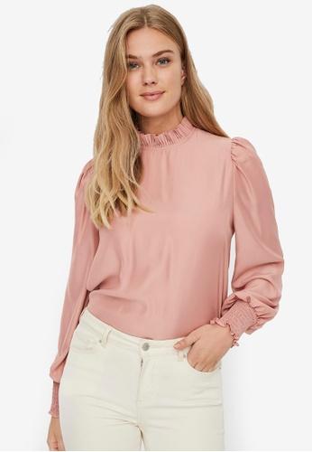 Vero Moda pink Celeste Long Sleeve Top FF873AAE0160E0GS_1