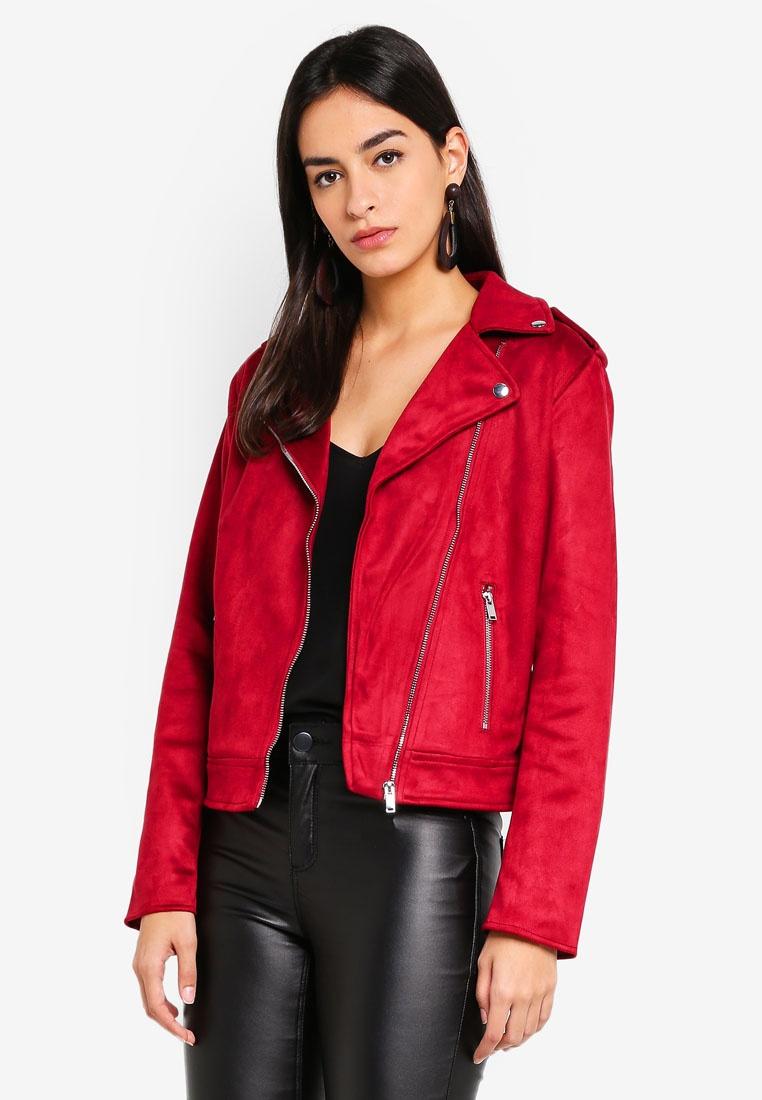 Red Perkins Jacket Biker Red Suedette Dorothy xFR0vqwCSw