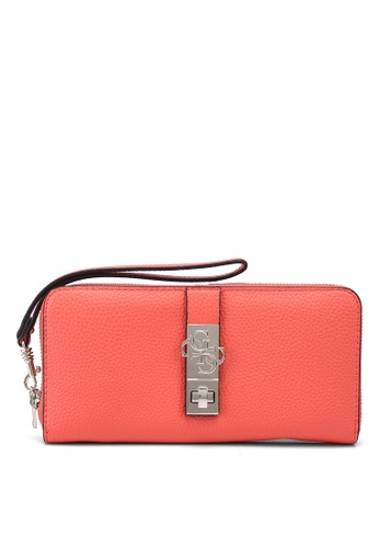 Guess orange Albury Sling Large Zip Around Wallet F3F2BACECFC976GS_1