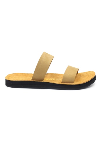 SoleSimple 米褐色 Warsaw - 米白色 百搭/搭帶 全皮涼鞋 C3DB0SHB775932GS_1