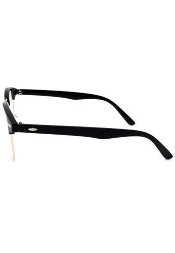 baec31ddb147 Buy Elitrend Unisex Half Frame Designer Glasses in Black   Gold Online on ZALORA  Singapore