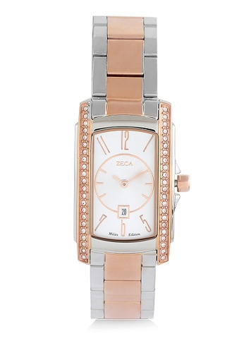 ZECA silver Zeca Watches Ladies Fashion Stainless Steel Analog - 1008LB Rosegold B456CACB73A4B6GS_1