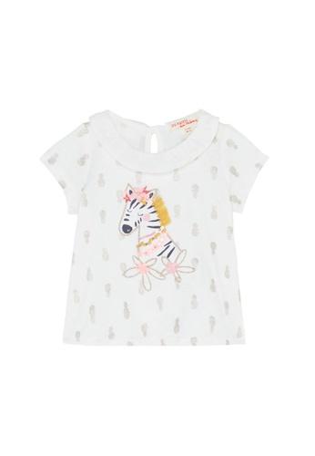 Du Pareil Au Même (DPAM) white Zebra Blouse DA7F6KA833B18DGS_1
