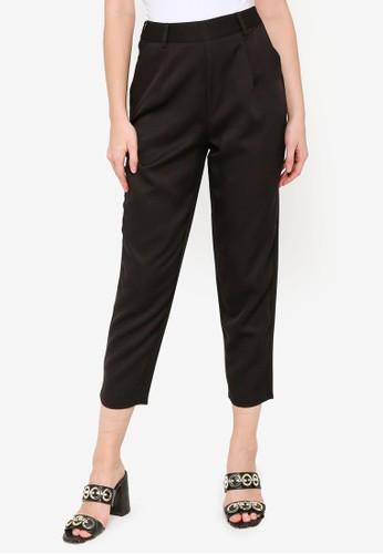 MISSGUIDED black Petite Skinny Cigarette Trousers 2FBD8AA20A392FGS_1