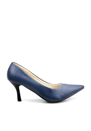 KissXXX 藍色 低反發舒適感美腿效果7CM小尖頭高跟鞋 KI603SH09MPNTW_1