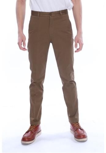 Amar Amran brown Khakis Long Pant 9C0E1AAB31F46EGS_1