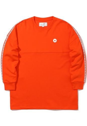 :CHOCOOLATE orange Logo tape sweatshirt CDD81AAFA63D9EGS_1