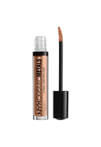 NYX Professional Makeup brown NYX Professional Makeup Cosmic Metals Lip Cream - METROPOLITAN 3ED18BE79E93AEGS_1