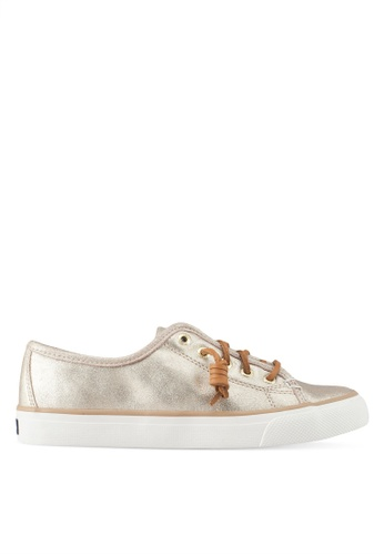 Sperry gold Seacoast Faux Leather Sneakers EA307SH9FD1EA4GS_1