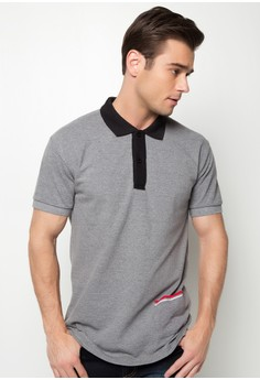 Classic Polo Shirt with Side Pocket