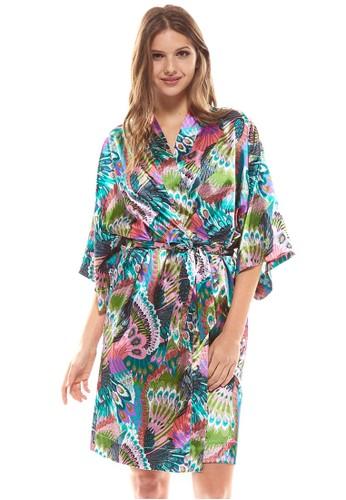 植物印esprit 台中花睡袍, 服飾, 睡衣