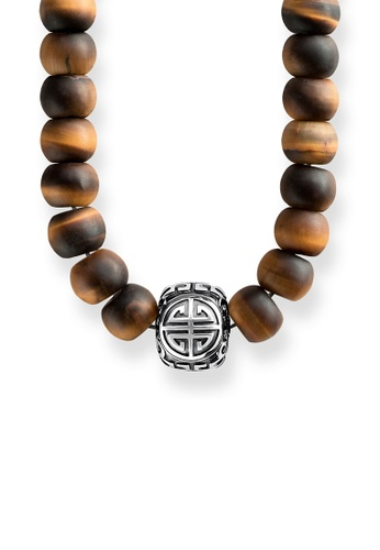 """Thomas Sabo brown Necklace """"Power Necklace Ethnic Brown"""" TH376AC0GMV7SG_1"""