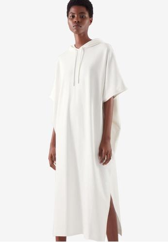 COS white Hooded Sweatshirt Dress 1B578AA7AE0CBFGS_1