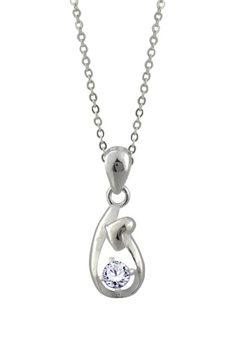 SC Tom Silver silver Heart Arrow Stone Pendant with Chain-TPS100 w/ Chain SC872AC49JXAPH_1