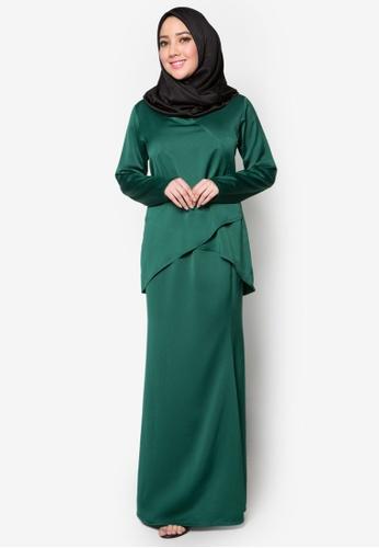 Amar Amran green Kurung Moden Qhalisa AM362AA18PTHMY_1