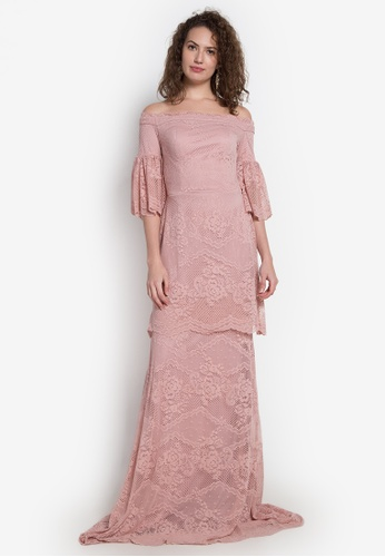 b2239eb695b0 Fatima Beltran Clothing Line pink Off Shoulder Lace Long Gown  FA618AA0KHN0PH 1