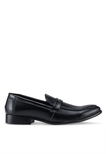 UniqTee black Business Loafers With Strap and Stitch Detail DB9CFSH73A393AGS_1