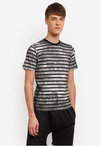 Flesh IMP 黑色 Splattered Life T-shirt FL064AA0RN9UMY_1