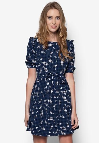 羽毛格紋印花洋裝, 服飾, 夏日esprit 寢具洋裝