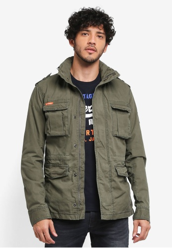 Superdry green Classic Rookie Military Jacket A687DAAFC4C389GS_1