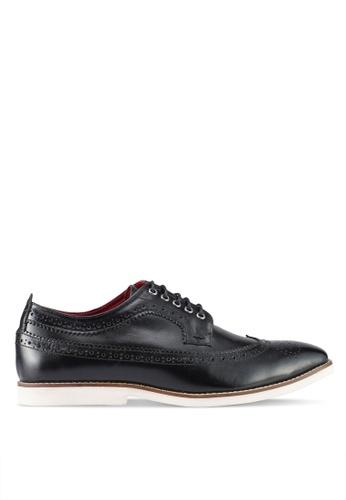 ACUTO black Leather Shoes AC283SH0SL75MY_1