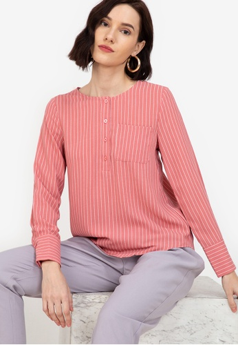 ZALORA WORK multi Button Down Blouse With Pockets BF21AAA1673FB6GS_1
