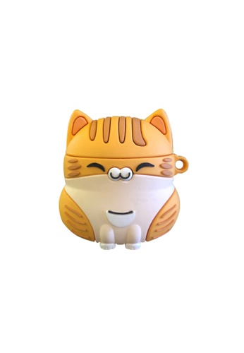 Kings Collection orange Cartoon Orange Cat AirPods Case (UPKCAC2152) 94EC7ACDA34F46GS_1