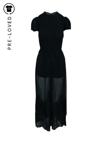 Reformation black Pre-Loved reformation Short Sleeves Jumpsuit Dress 51404AA393D675GS_1
