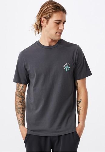 Cotton On grey Tbar Art T-Shirt 9A4FCAA5E04267GS_1