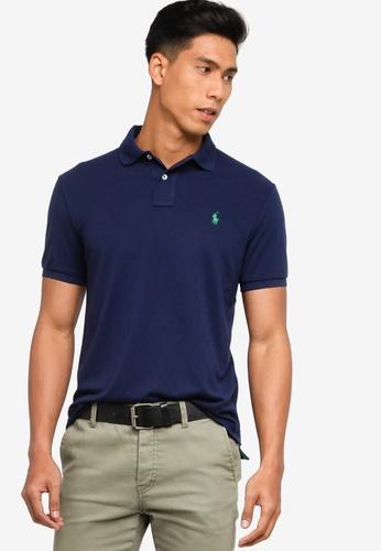 Polo Ralph Lauren navy Short Sleeve Knit Basic Polo Shirt 01263AAC925F54GS_1