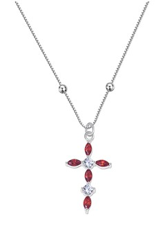 Cross Stone Center Chain Necklace