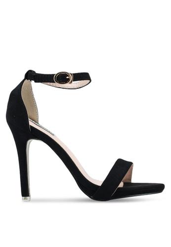 Mimosa black Faux Suede Ankle Strap Heels 729B8SH975EFF3GS_1
