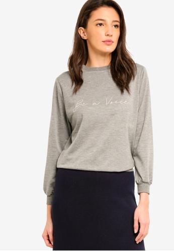 Zalia grey Embroidered Jumper CCB7BAA9CC1E2FGS_1