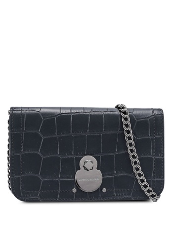 Longchamp black Cavalcade Croco Chain Wallet (zt) EEEAEAC0D61534GS_1