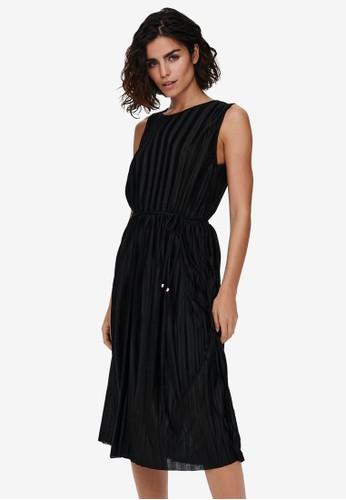 ONLY black Pleated Dress 36310AA9E5DE86GS_1