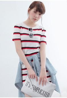 Athleisure Stripes Knit Dress