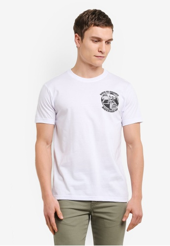 Graphite white Bottoms Up T-Shirt GR677AA0SCA0MY_1