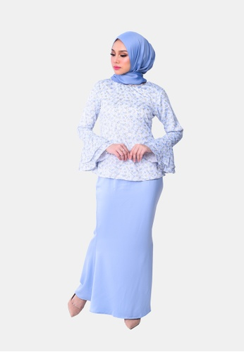 Insyirah Kurung Modern from KAMDAR in Blue