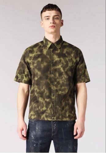 Diesel green S-Tigge Short-Sleeve Shirt 837ADAACD9A9E8GS_1