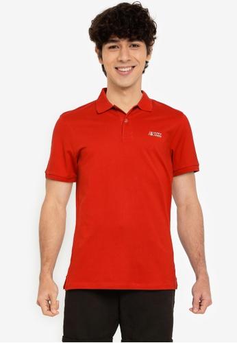 Jack & Jones red Alpha Short Sleeves Polo Shirt CEE62AAE1F0666GS_1