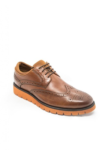 East Rock brown Rasheed Formal Shoes BC08ESHDE0ABDDGS_1