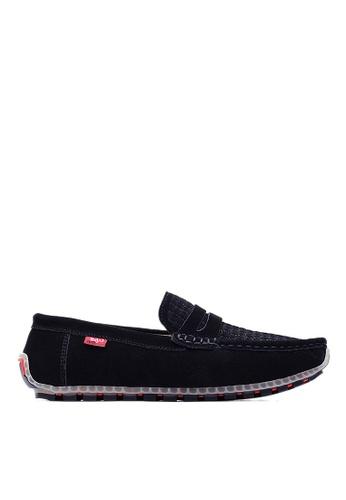 Life8 black Mens Elastic Casual Shoes-09612-Black LI283SH0FFGFSG_1