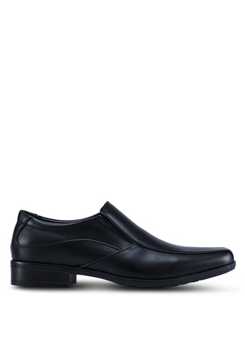 Louis Cuppers black Textured Formal Shoes E10ACSH5A679ECGS_1