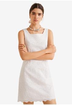 71e4581ee9f7 Mango white Embroidered Short Dress F1DAEAA55B2353GS_1