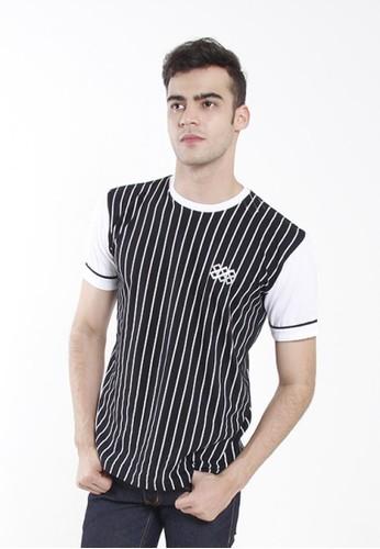 JOULDAS black Jouldas Black Striped Men T-Shirt A22BDAAAFDD371GS_1