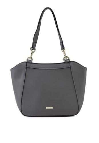 Mel&Co grey Faux Leather Double Handle Bag 5D035ACAD97A98GS_1