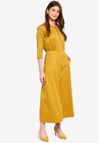 c3d76763115 CLOSET yellow Wide Leg Jumpsuit 1BE18AAEDEEF3CGS 1