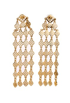 Stella and Dot Gold Devon Drape Earrings