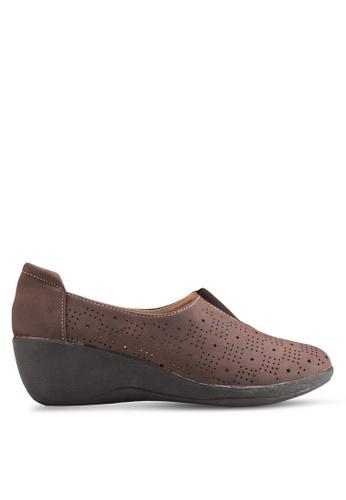 Louis Cuppers brown Wedge Loafers LO977SH17BEKMY_1