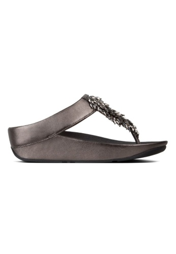 6e0787129a78 Fitflop silver Fitflop Rumba Toe-Thong Sandals Pewter 78171SHAB46186GS 1